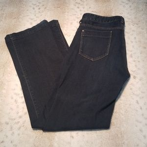 Eddie Bauer Dark Wash Curvy Fit Trouser Jean